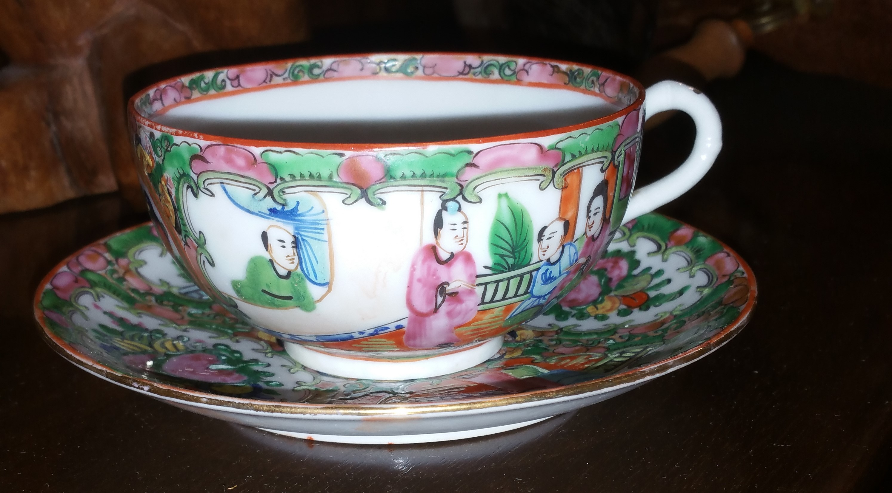 Tea Mugs For Sale Rose Medallion Tea Cup Set For Sale Antiques