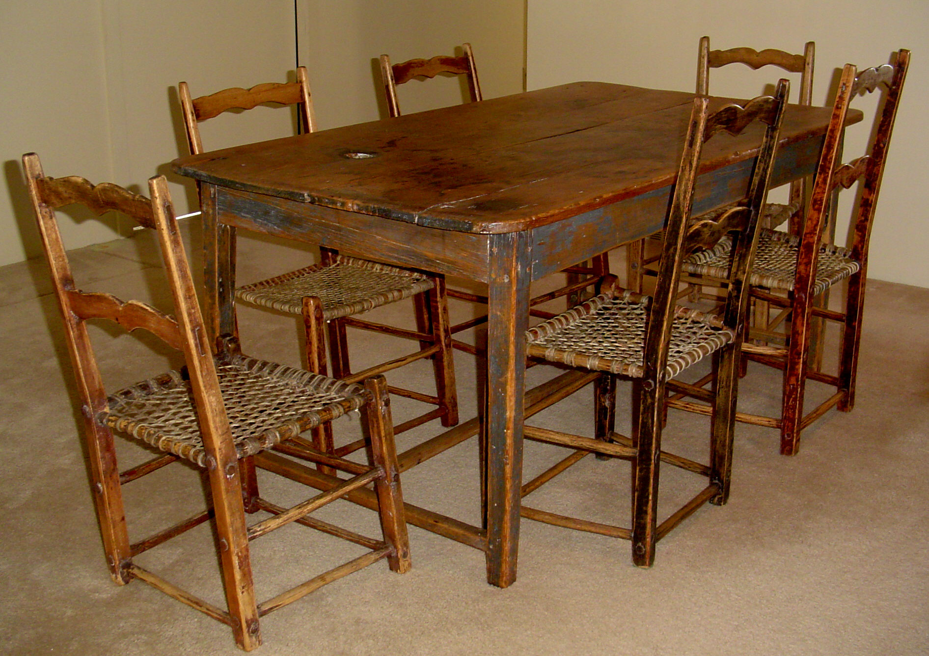 Furniture Canada Free Shipping Primitive Kitchen Set Canadian Pine Wood Furniture For