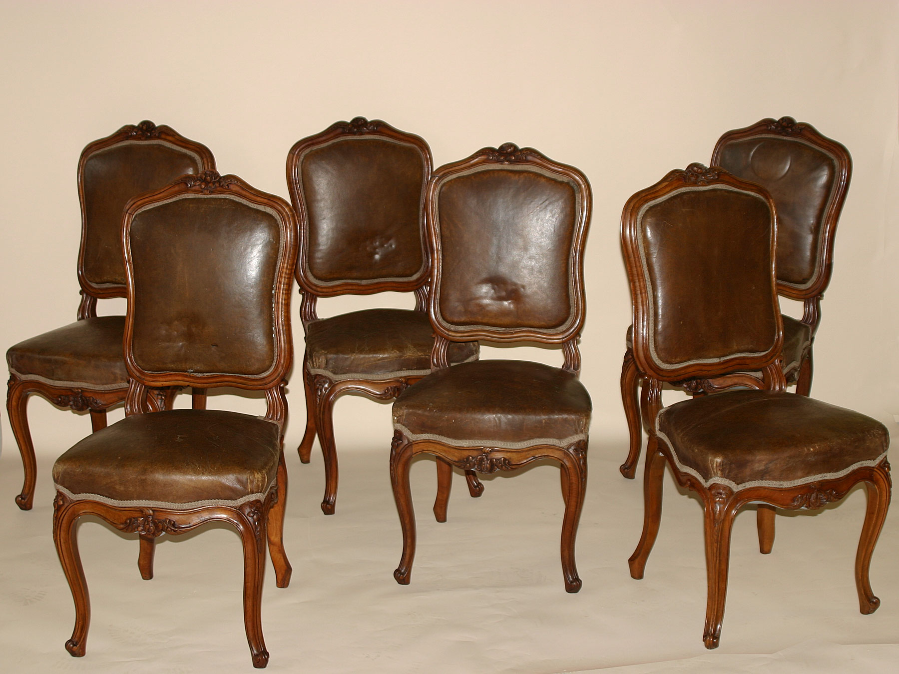 Chaise Louis Xv Set Of Six French Louis Xv Style Chaises For Sale