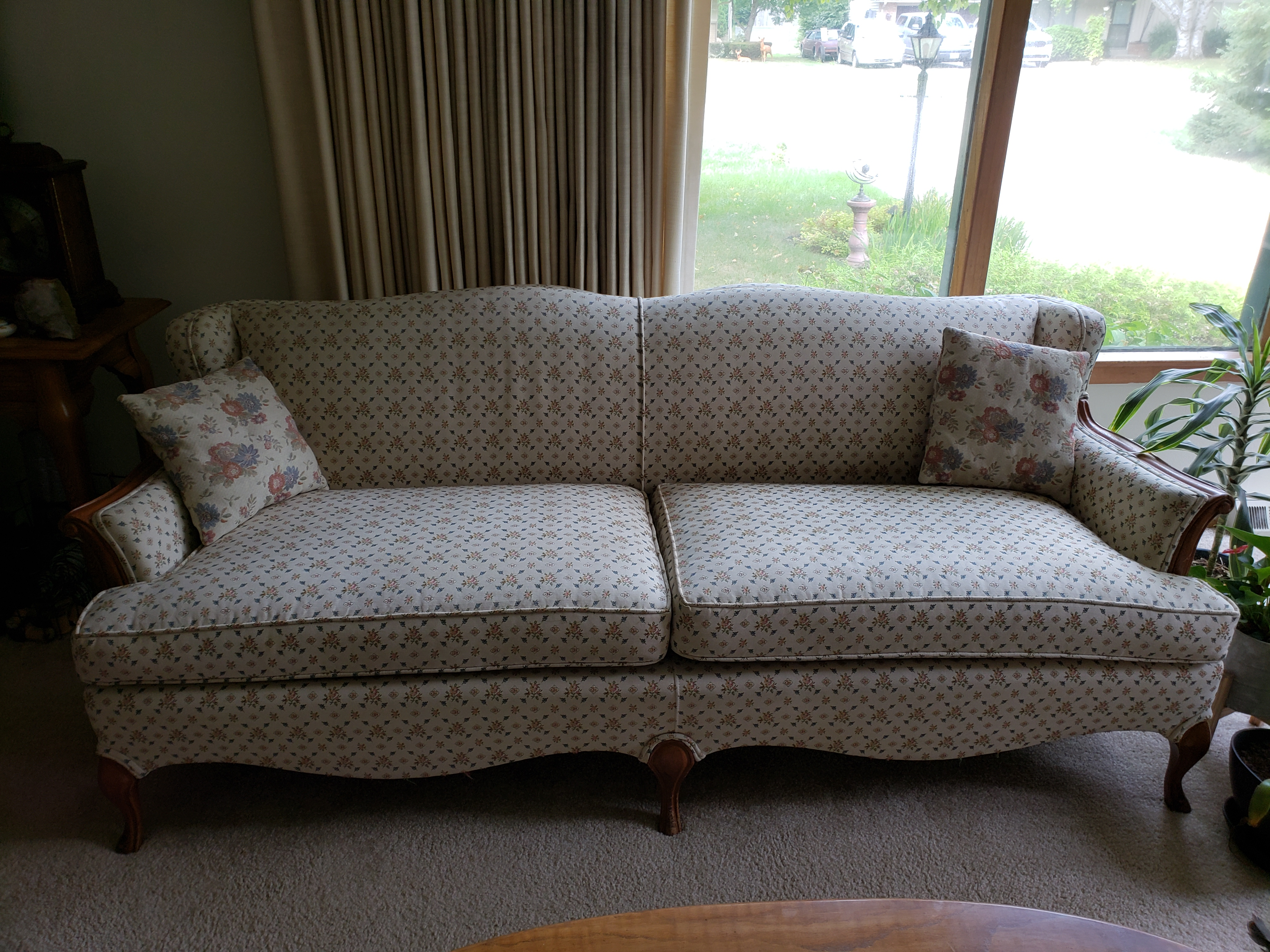 Sofa Queen Anne Queen Anne Style Sofa For Sale Antiques Classifieds