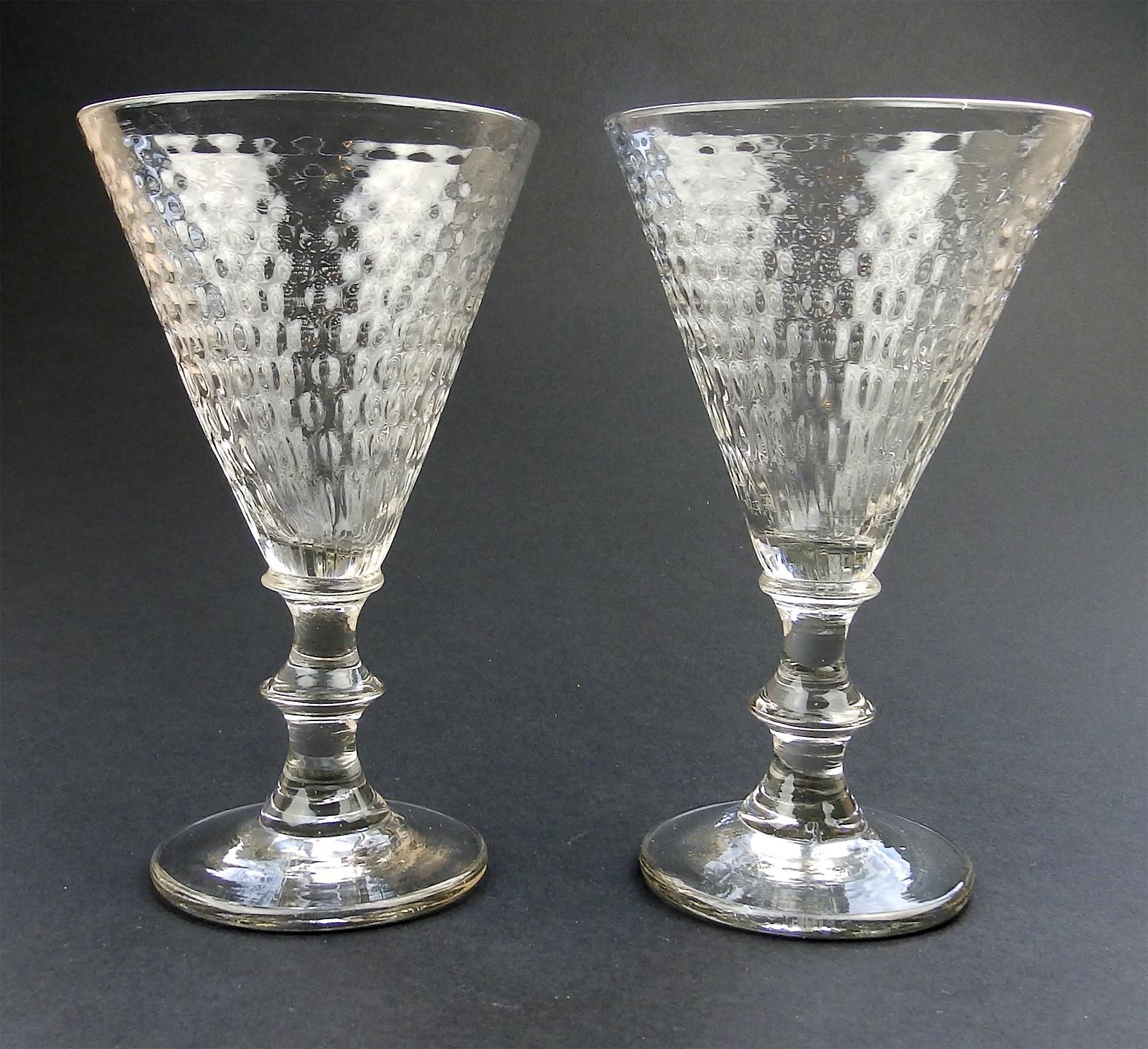 Big Red Wine Glasses Antique Glass A Rare Pair Large Wine Glasses Honeycomb