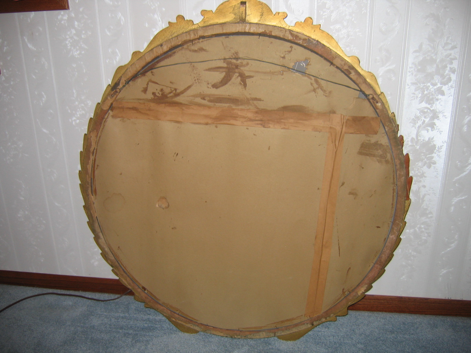 Round Mirrors For Sale Antique Vintage Gold Gilt 41 1 2in Big Round Gesso Wall