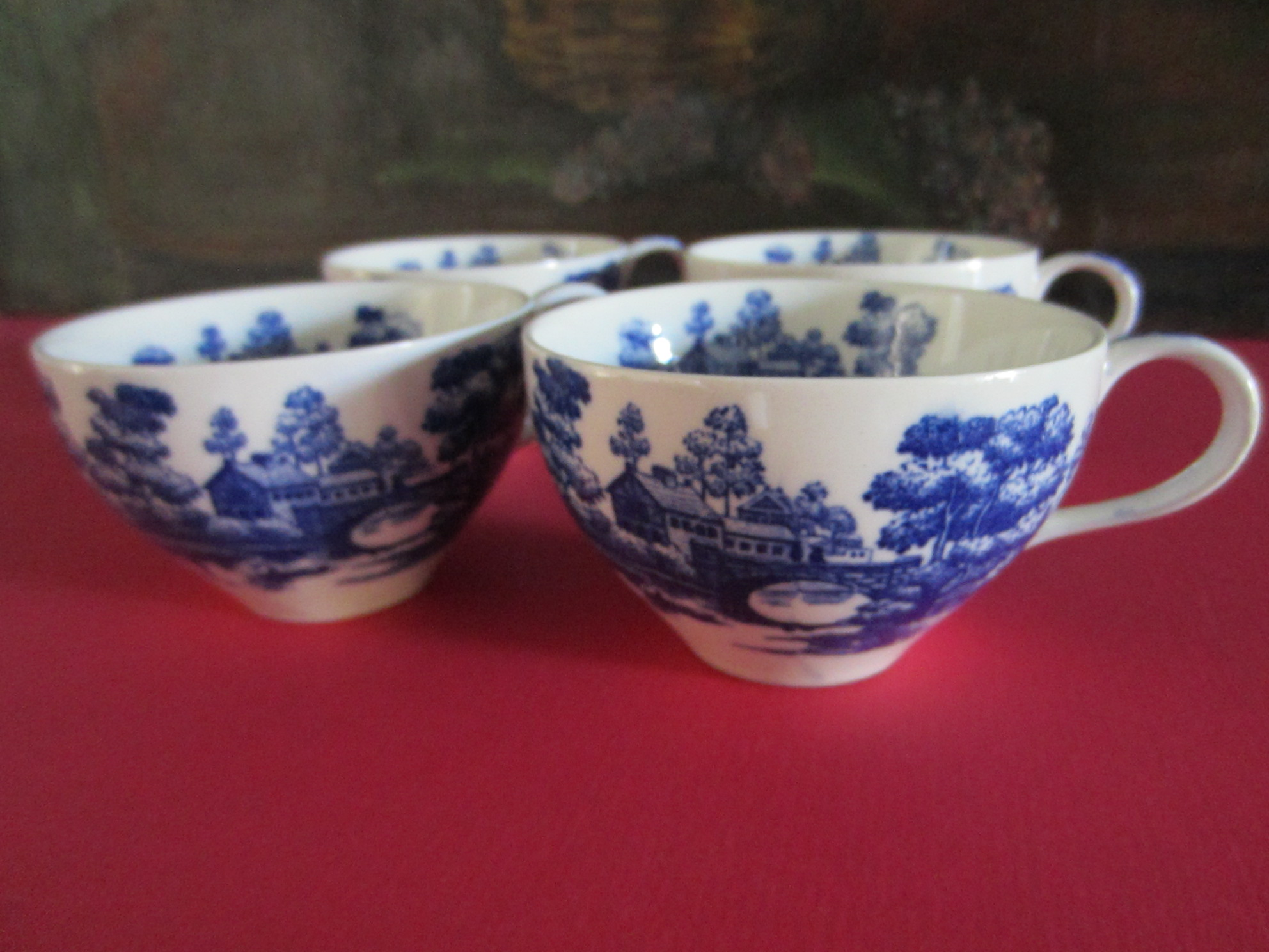 Tea Mugs For Sale Nasco Hand Painted Lakeview Japan Tea Cups For Sale