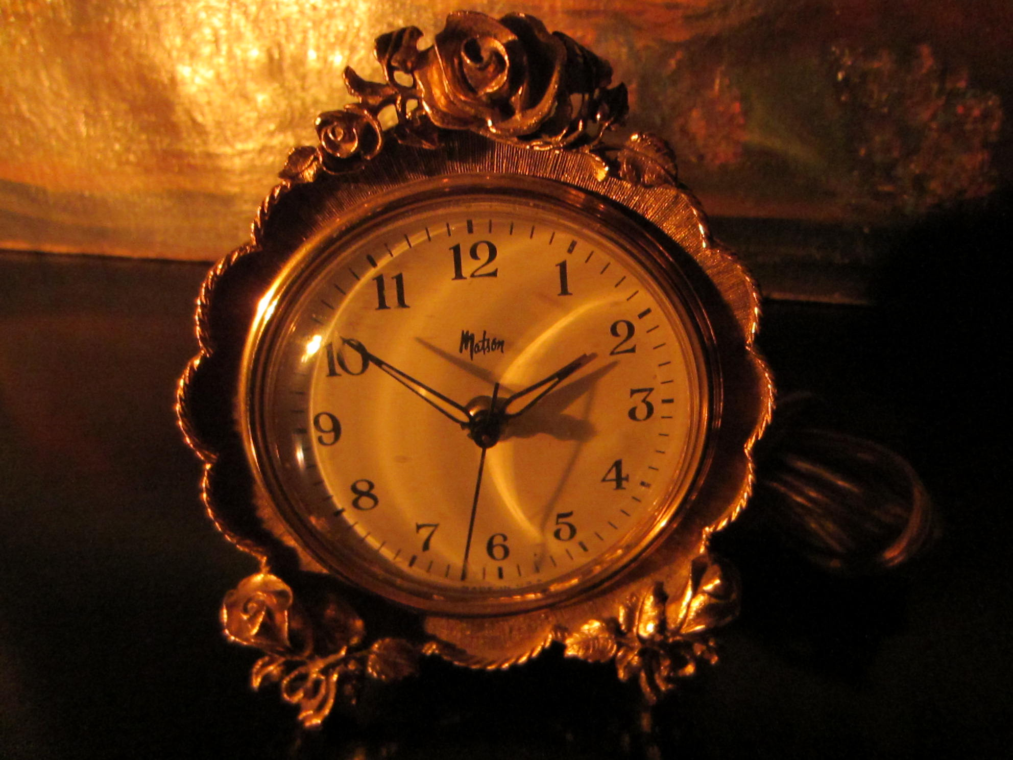American Made Alarm Clock Matson American Brass Electric Ormolu Clock For Sale Antiques