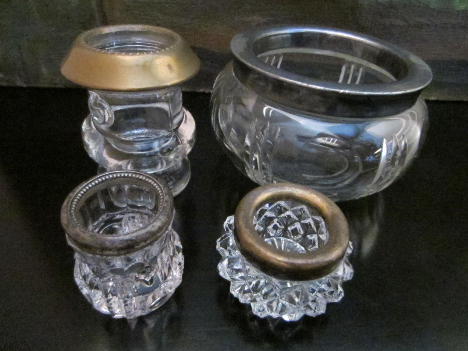 Jars On Sale Various Sterling Silver Plated Glass Jars For Sale