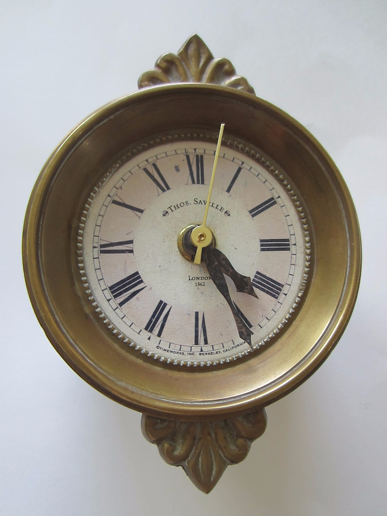 Wall Clocks Sales Thos Saville London Timeworks Brass Crested Wall Clock