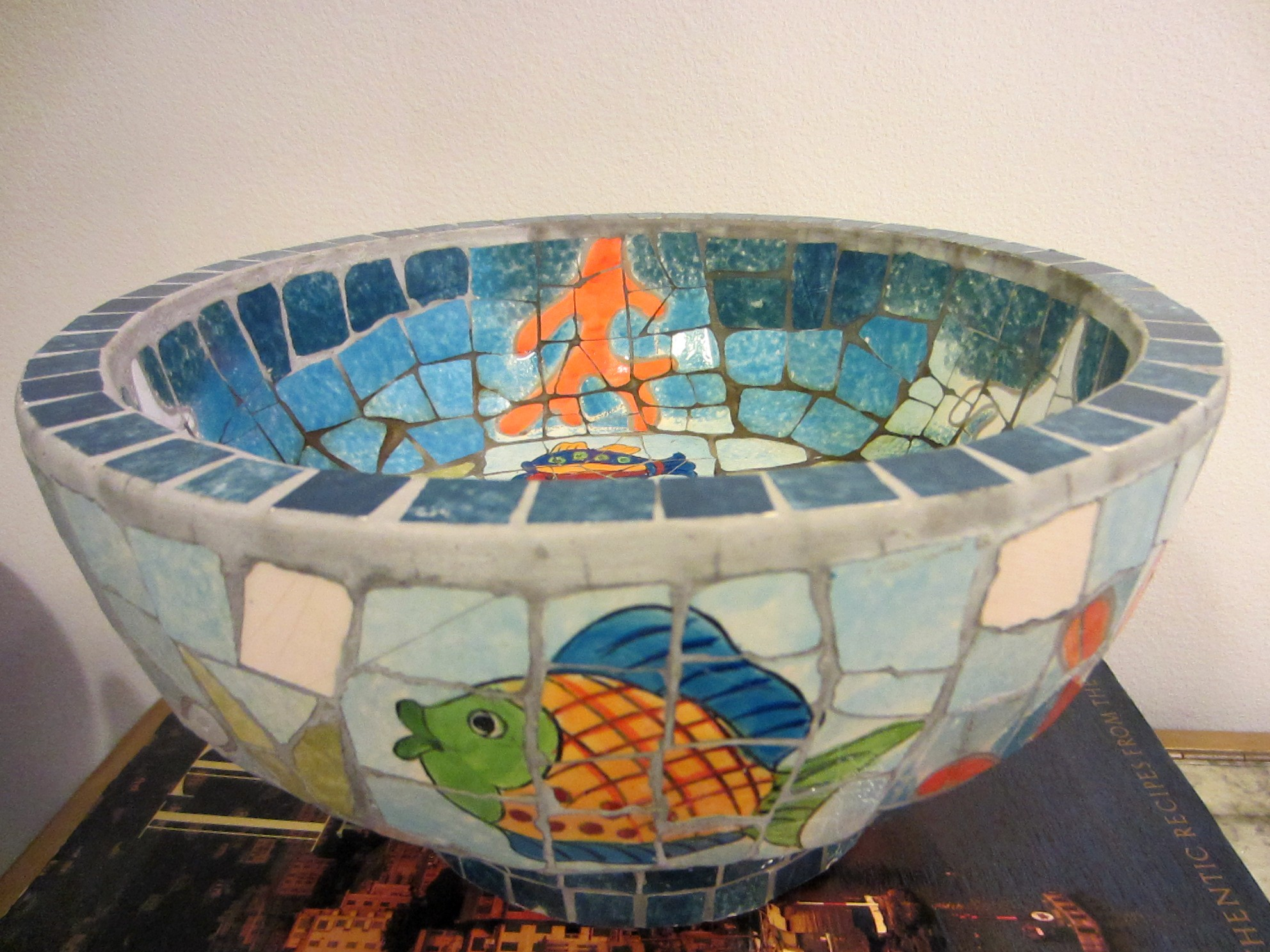 Fruit Bowl For Sale Mosaic Nautical Fruit Bowl Hand Crafted Seascape Inspire