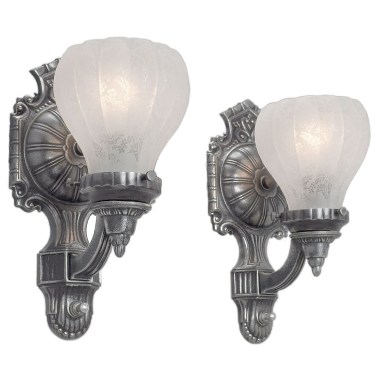 Images Of Wall Sconces Antique Edwardian Style Pair Of Pewter Color Wall Sconces