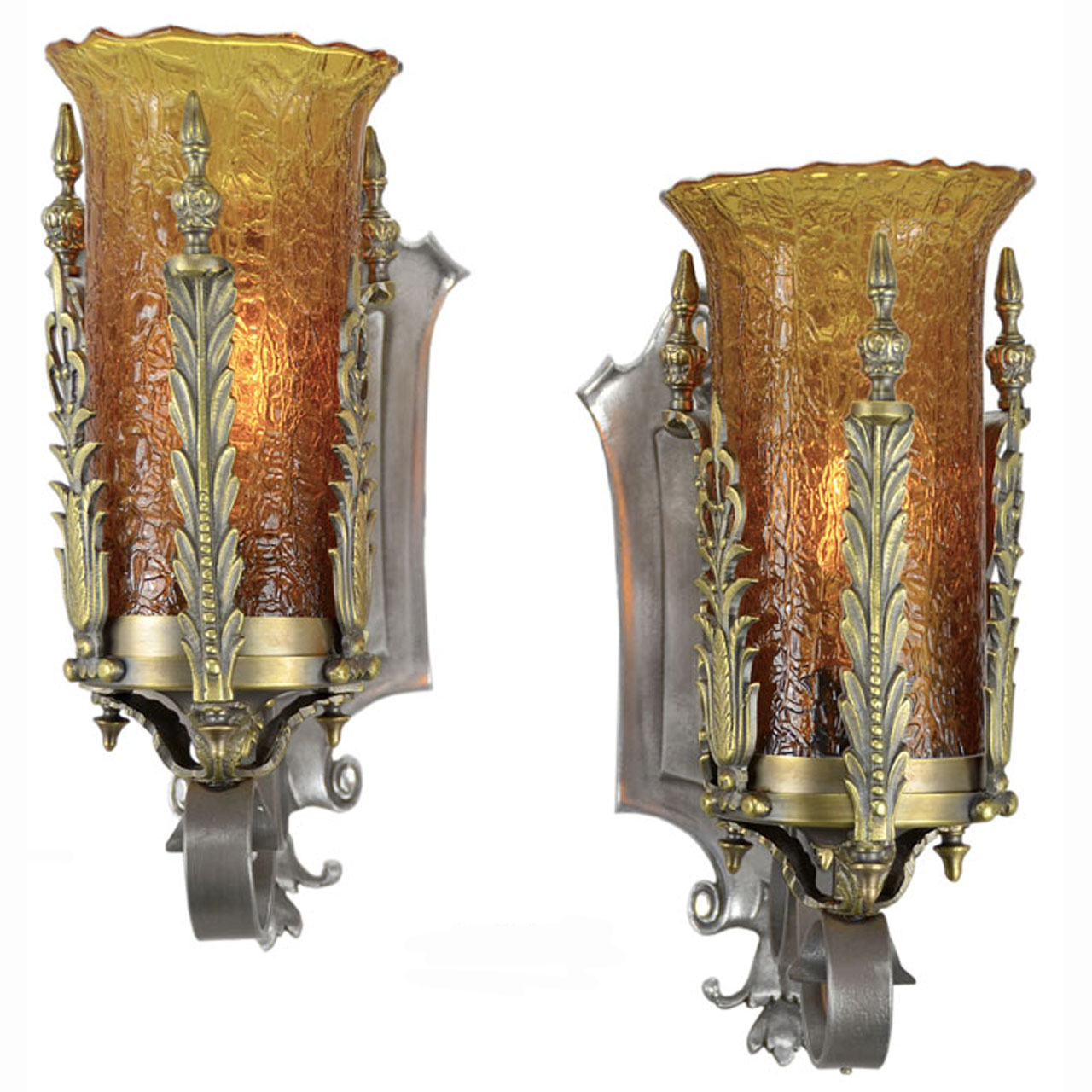 Images Of Wall Sconces Pair Of Antique 1920s 1930s Art Deco Wall Sconces With
