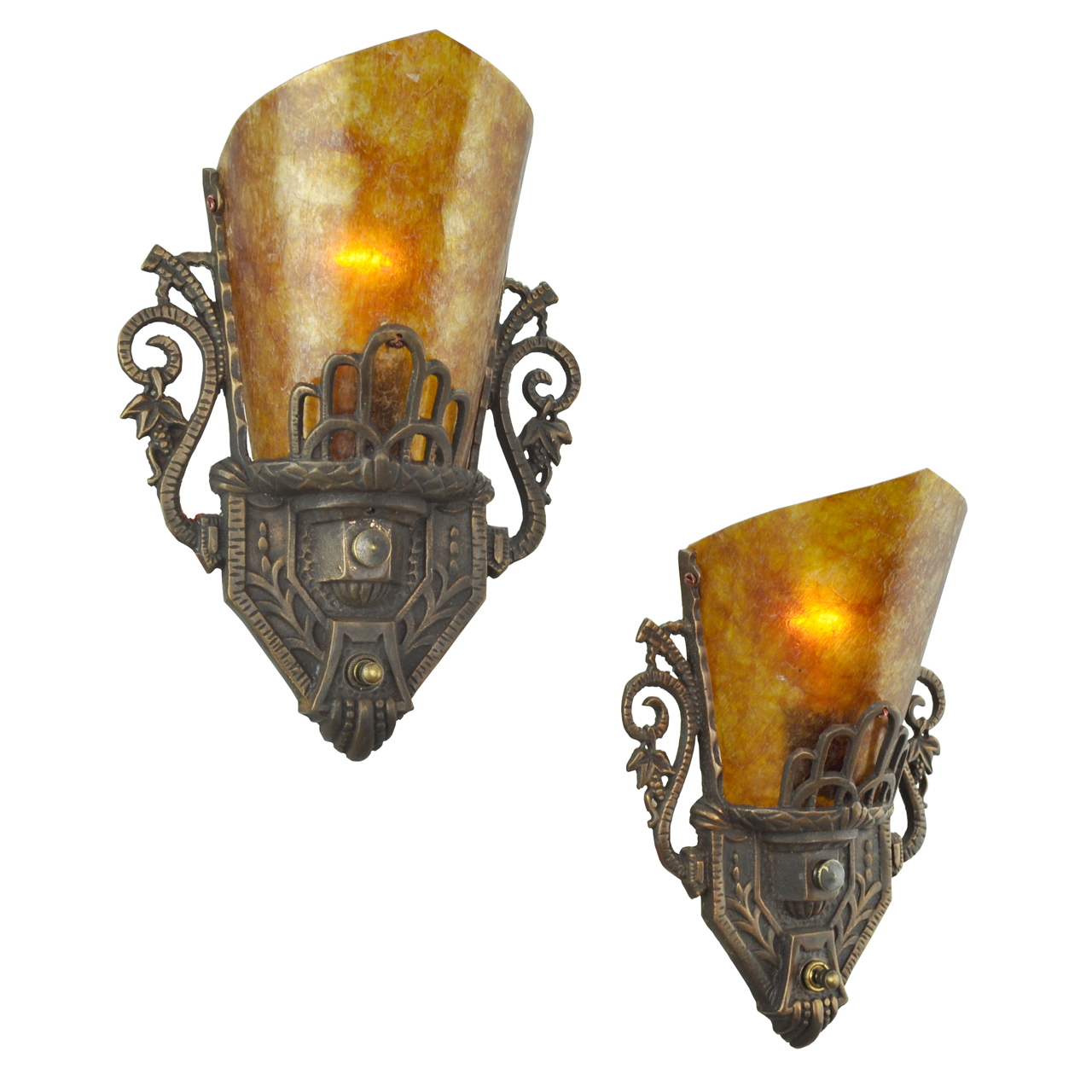 Images Of Wall Sconces Art Deco Style Pair Of Antique Original Restored Wall