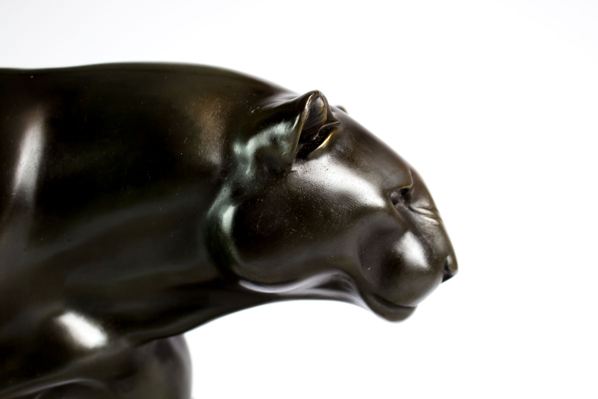 Panther Statue For Sale 1930 Large Art Deco Panther Sculpture Statue Signed