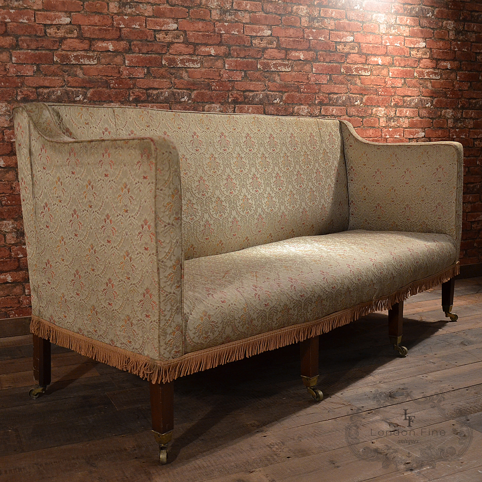 High Back Antique Sofa Antique Georgian High Back Sofa English C 1800 3 Or 4 Seater For
