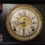 ANTIQUE CARVED WOOD E. Ingraham Clock (2)
