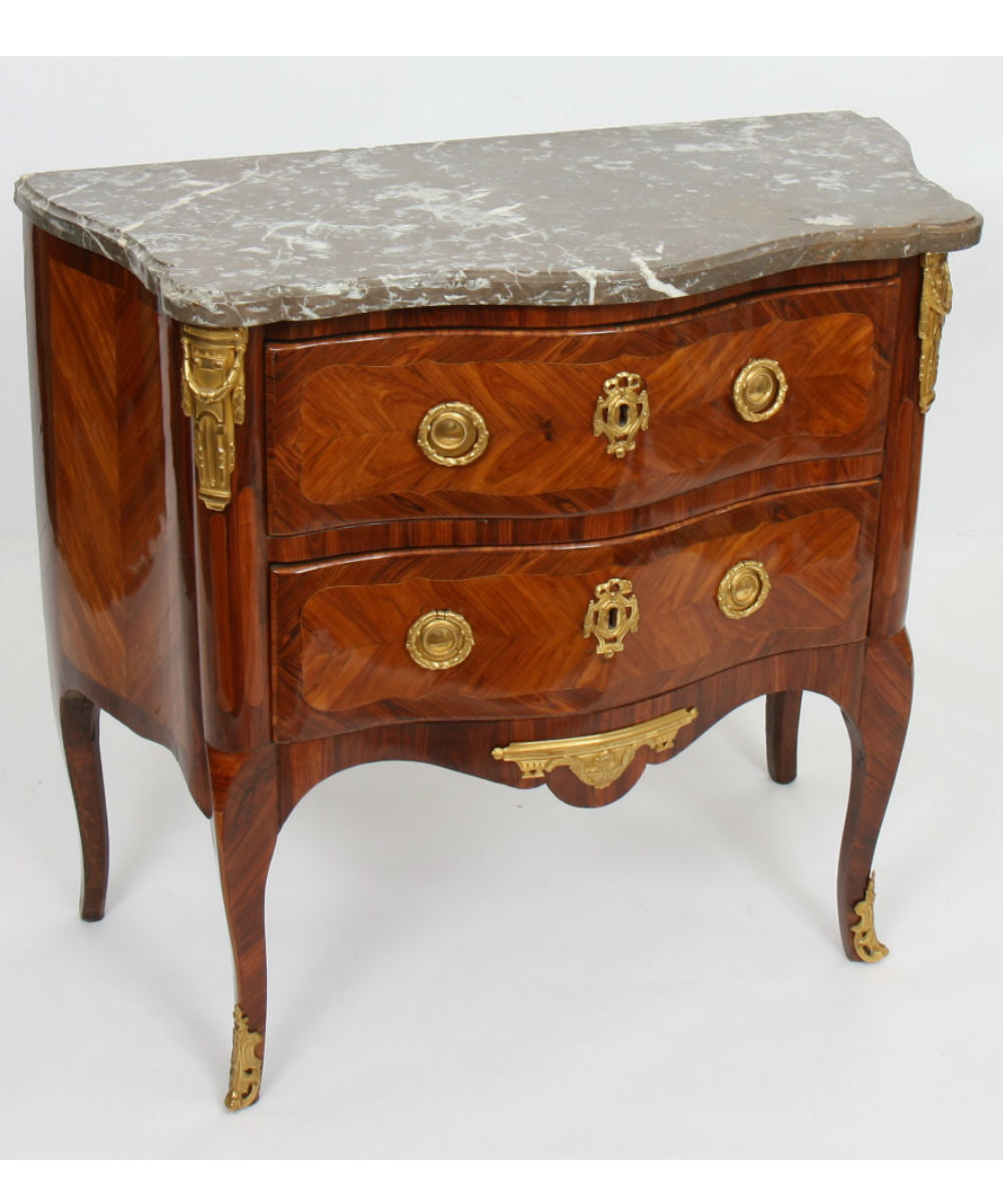 Commodes Louis 15 Petite Commode Marquetée Louis Xv Estamp De Lapie