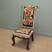 Early Victorian Rosewood Prayer Chair / Side chair ...