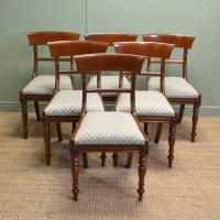 Fine Set of 6 Regency Mahogany Antique Dining Chairs ...