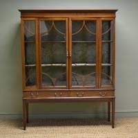 Spectacular Edwardian Inlaid Mahogany Antique Display ...