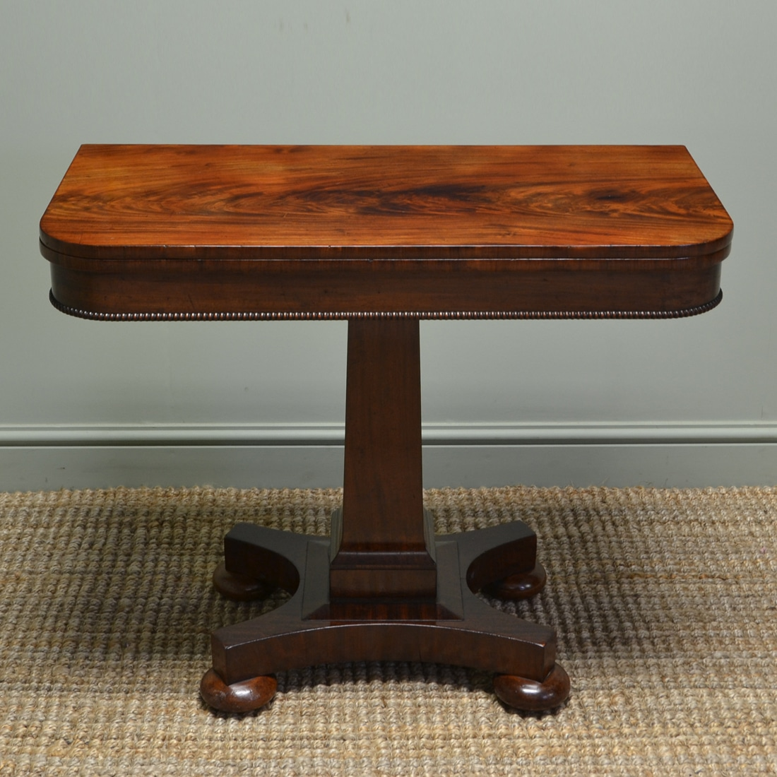 Beautifully Figured Victorian Flamed Mahogany Antique Side