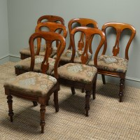 Set of Six Victorian Mahogany Antique Dining Chairs ...