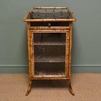 Unusual Decorative Victorian Antique Bamboo Cabinet ...