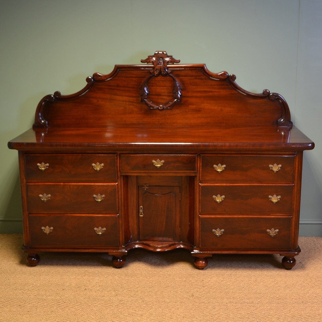Vintage Sideboard For Sale Uk Large Figured Mahogany Quality Antique Victorian Sideboard