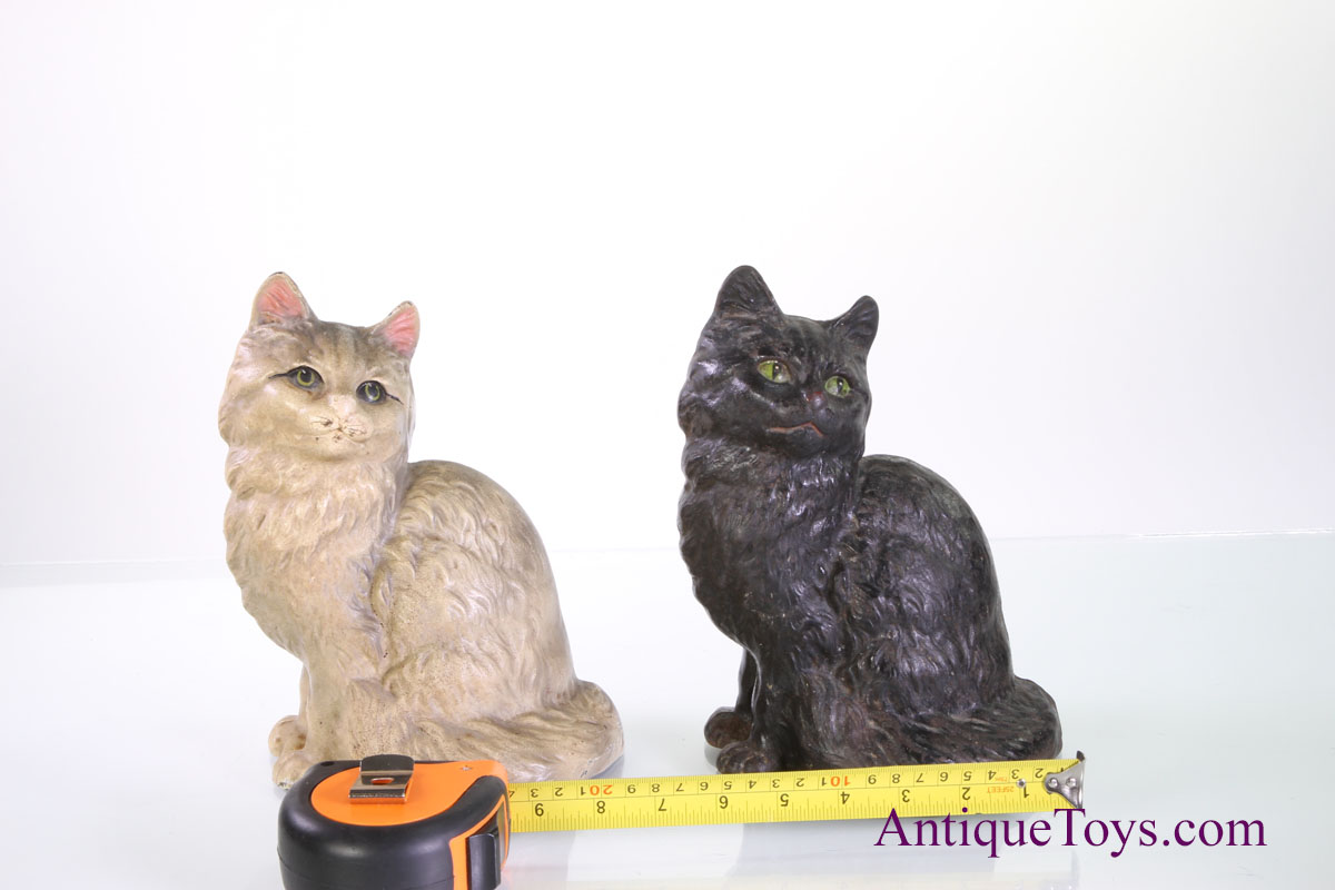 Cat Door Stops Cast Iron Cats By Hubley Sitting Antique Toys For Sale