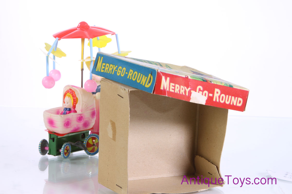 Baby Toys Sale Baby Carriage Merry Go Round Celluloid Japan Toy For Sale