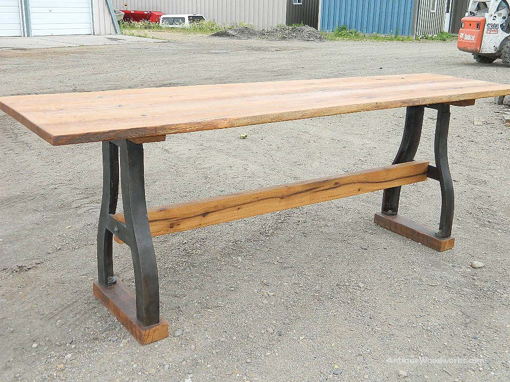 Table Bar Industriel Communal Bar Height Industrial Table Antique Woodworks