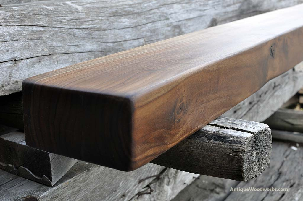 Black Walnut Fireplace Mantel Shelf Salesmen Antique