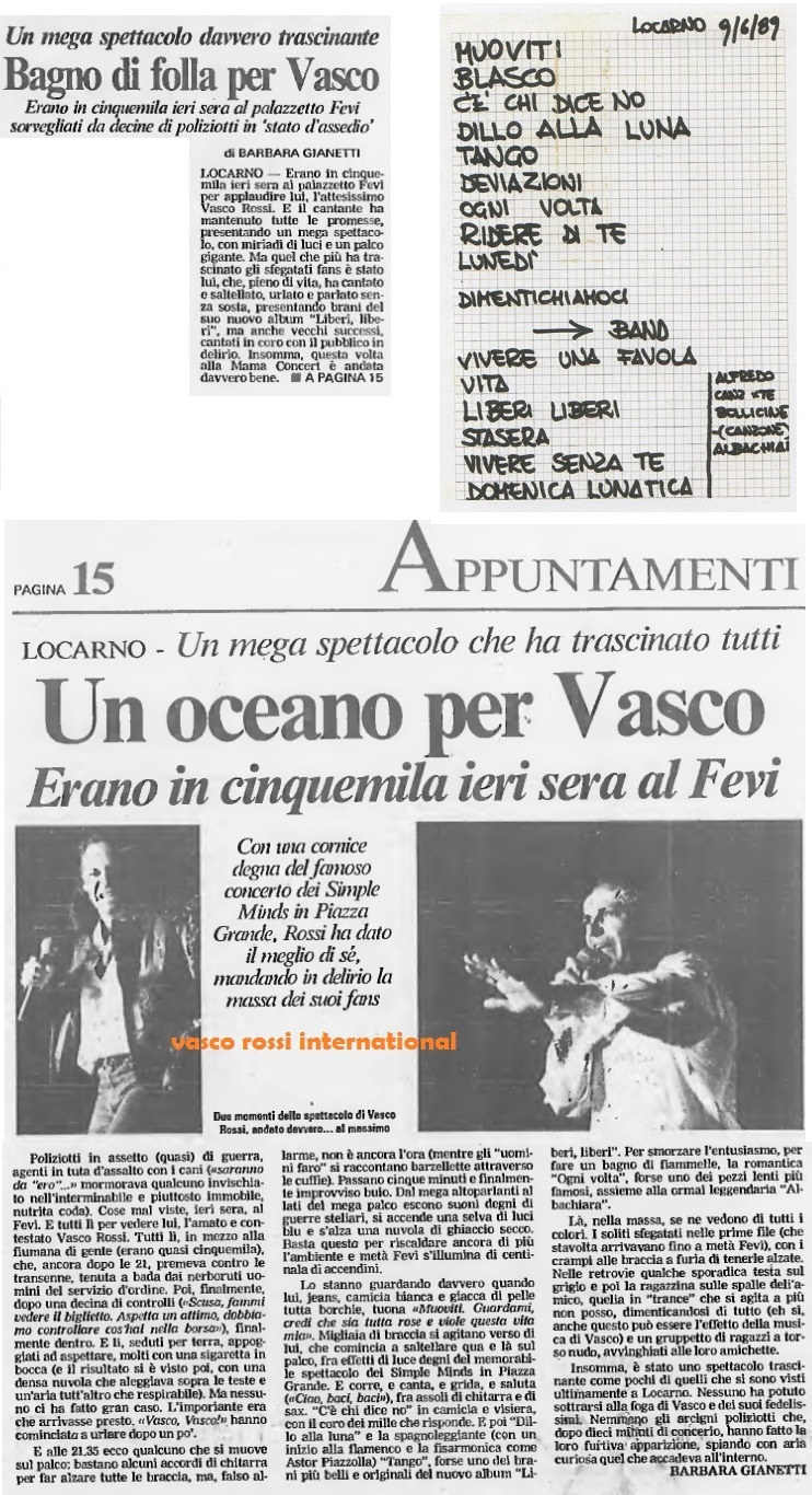 Vivere Senza Te Vasco Vasco Rossi International Fansite