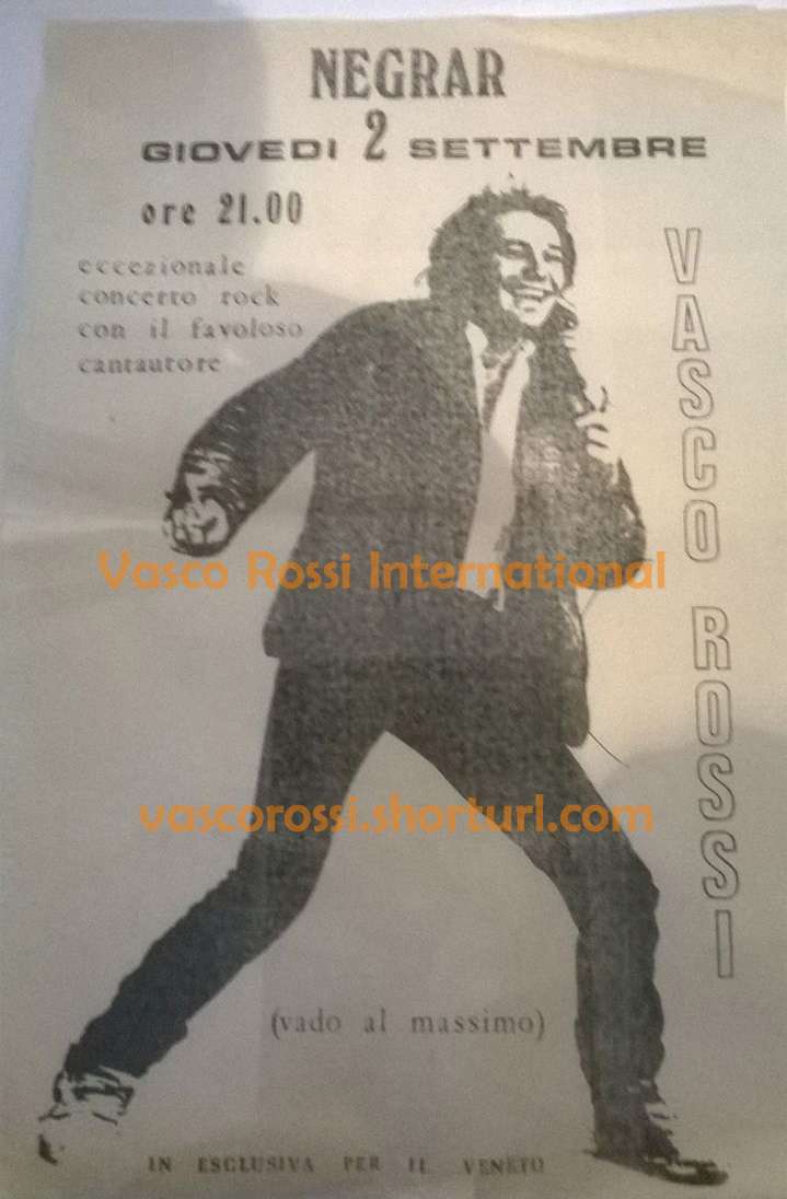 Vasco Rossi 1982 Vasco Rossi International Fansite