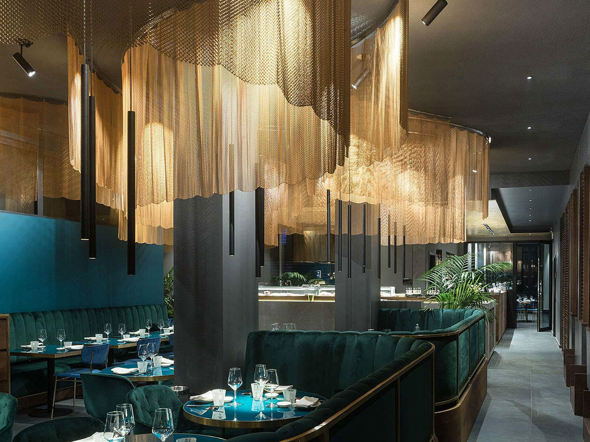 Modern Restaurant Interior Design Nishiki Restaurant Milan And The Pleasure Of Sushi In A