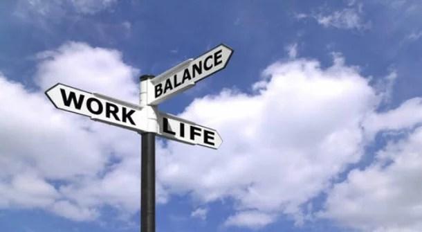 balanço entre vida e trabalho.