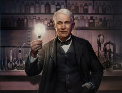 Thomas Edison, inventor da lâmpada elétrica