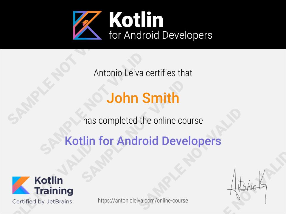 Kotlin for Android Developers - The online video course - Antonio Leiva