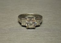 Art Deco Platinum 2 Carat Diamond Engagement Ring