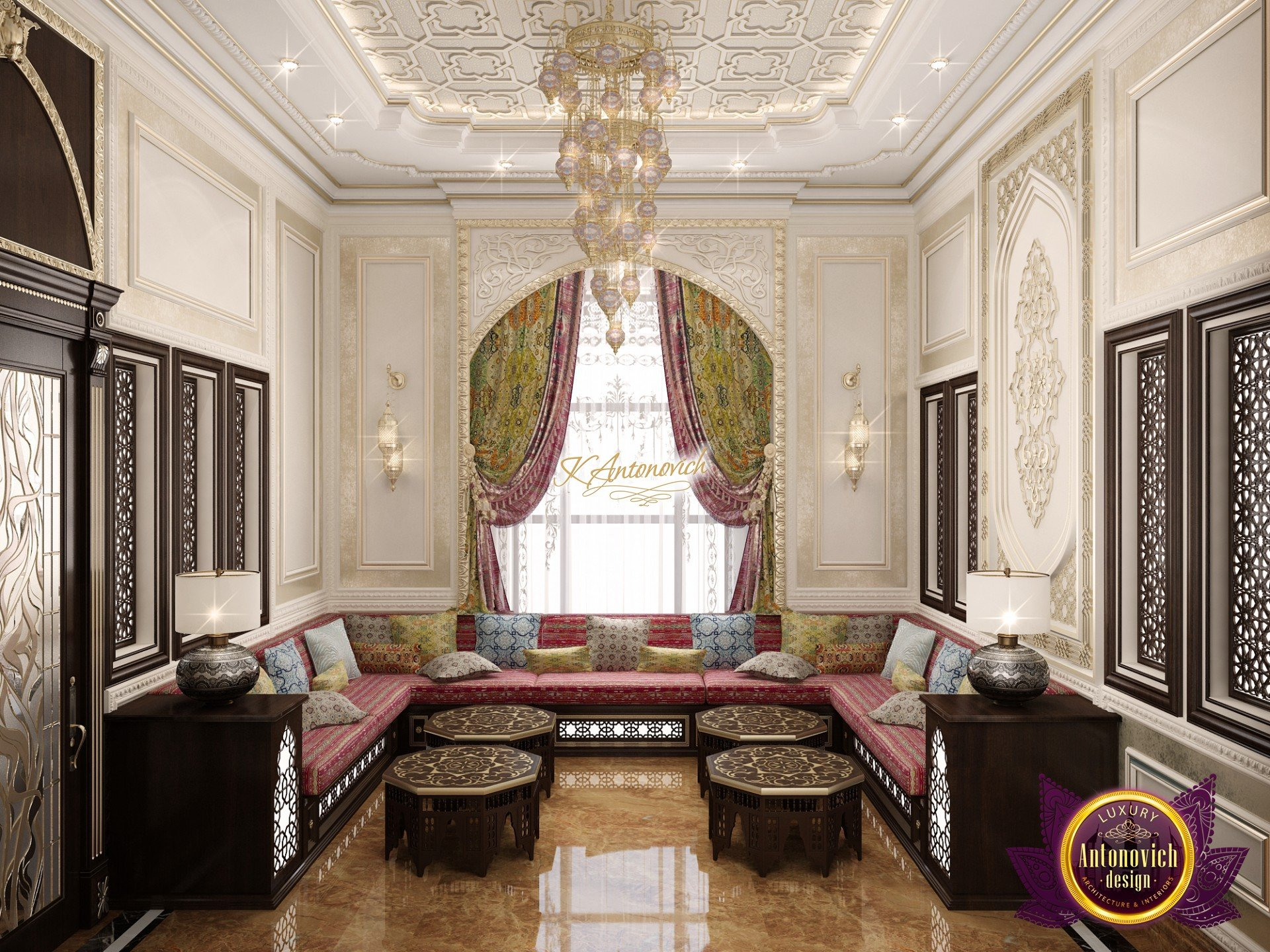 Living room in Arabic style
