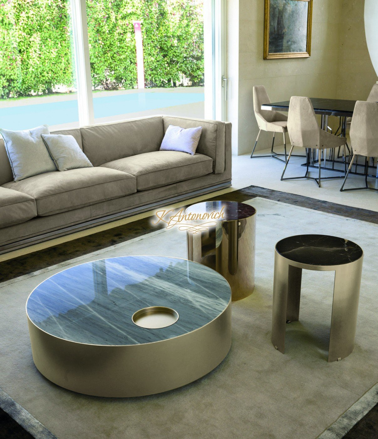 √ Italian style living room furniture
