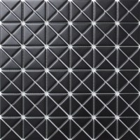 1'' Matte Pure Black Porcelain Triangle Tile Mosaic for ...