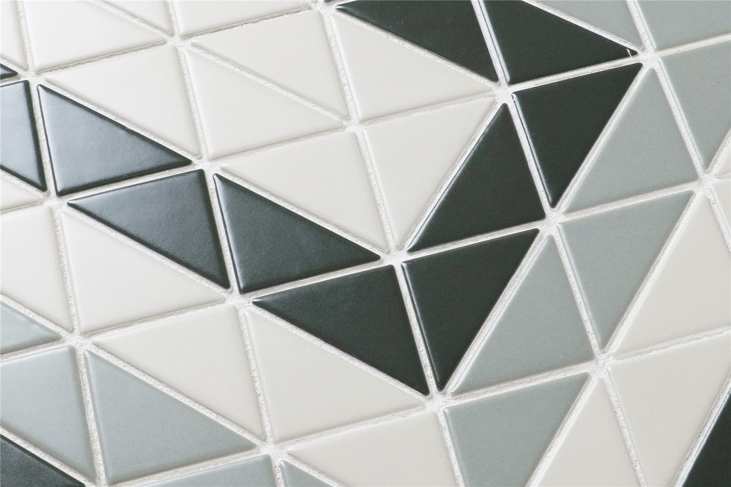 Chino hill rectangle 2 triangle g tile floor mosaic