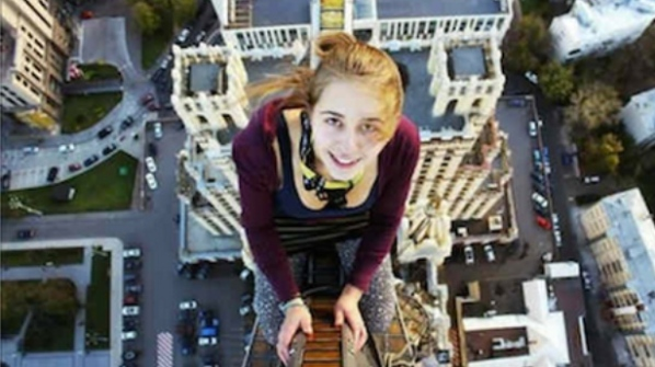 Xenia Ignatyeva took a selfie from a bridge 28 feet off the ground to impress her friends. The 17-year-old Russian girl lost her balance and fell on a cable, which tragically electrocuted her