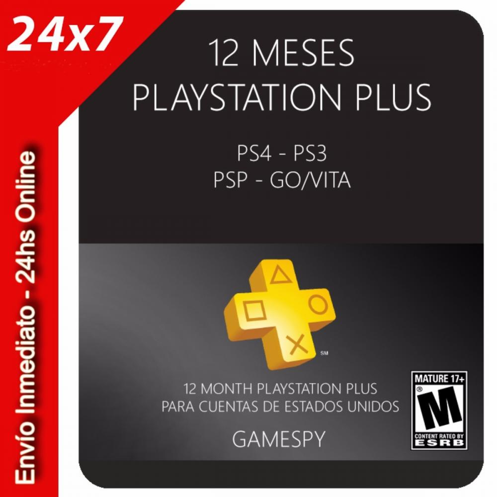 Playstation Plus 12 Meses Playstation Plus 12 Meses Usa Ps 3 4 Psp Go Vita Gamespy