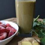 Strawberry Kale Ginger Smoothie