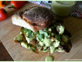 Mexican-Spiced Roasted Veggie Sandwich An Unrefined Vegan