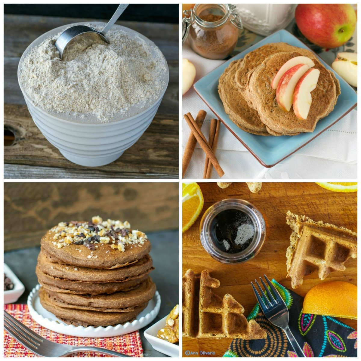 Breakfast in Bed: Multigrain Pancake/Waffle Mix with 3 Variations