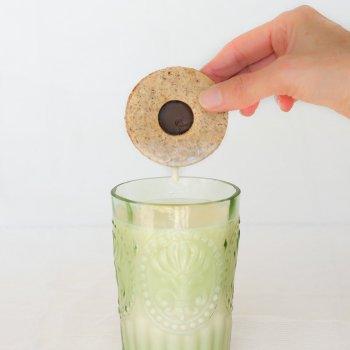 Chocolate Hazelnut Sandwich Cookie Dunk An Unrefined Vegan