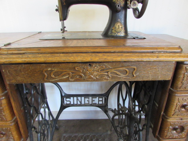 Lot Detail Antique Singer Treadle Sewing Machine In 7