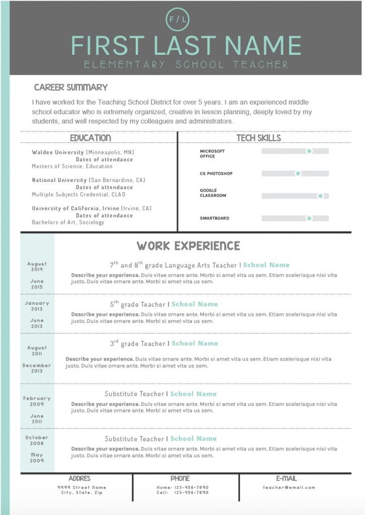 resume writing templates that stand out