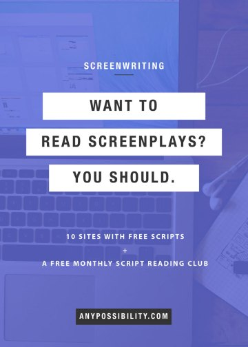 Instead of streaming Netflix tonight, why don't you try reading a script? Switch up the old routine! It will take the same amount of time, but you just might get something extra out of the experience. Read screenplays to better yourself as a writer. Plenty of websites host free screenplays online, so it's as easy as downloading a PDF. Whether it's for research or enjoyment, give it a go!