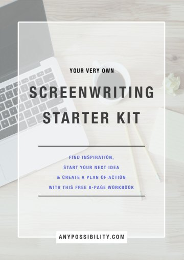 Screenwriting Starter Kit | Use this Screenwriting Starter Kit to kick your writing into gear. Find inspiration, start your next idea & create a plan of action with this free 8-page workbook. Write your screenplay now! Screenwriting | Filmmaking | Screenplay